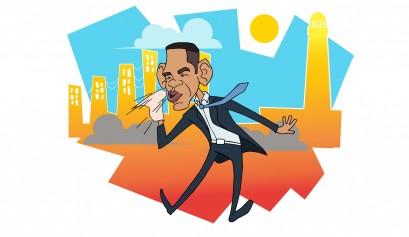 Obama en Cuba / Ilustración: Orlando Pulido
