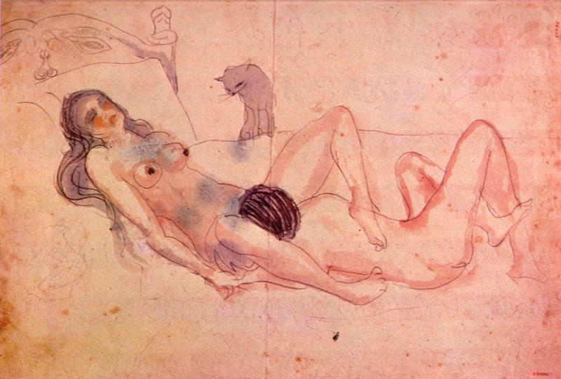 Dibujo erótico de Pablo Picasoo