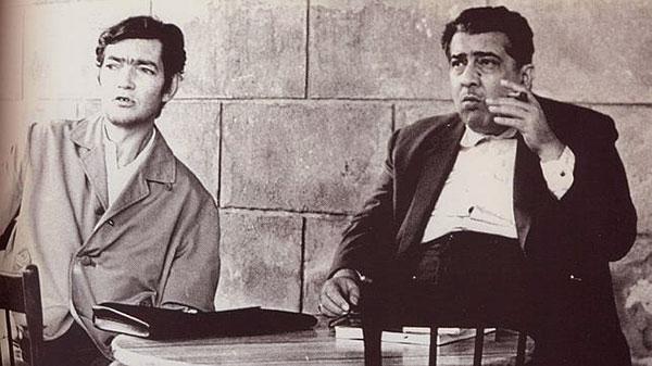 Foto de Chinolope a Julio Cortázar y Lezama Lima.