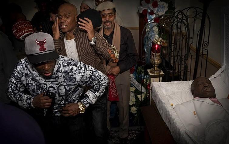 """Funeral de un Rumbero"", Harlem NYC, año 2014 / Foto: Juan Caballero"