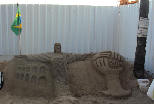 Escultura de arena / Foto: Cortesía del autor