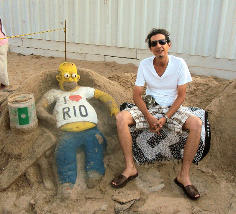 Homer Simpson y el cronista