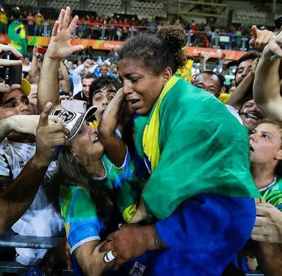 Rafaela Silva, tras ganar el oro en Rio 2016