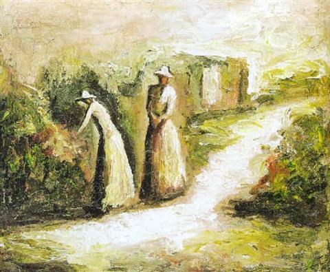 Mujeres en el jardín / Fidelio Ponce de León