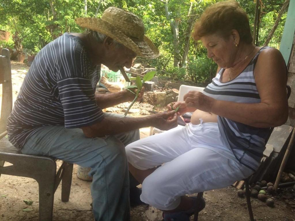 Tatá atiende a Marta / Foto: El Estornudo