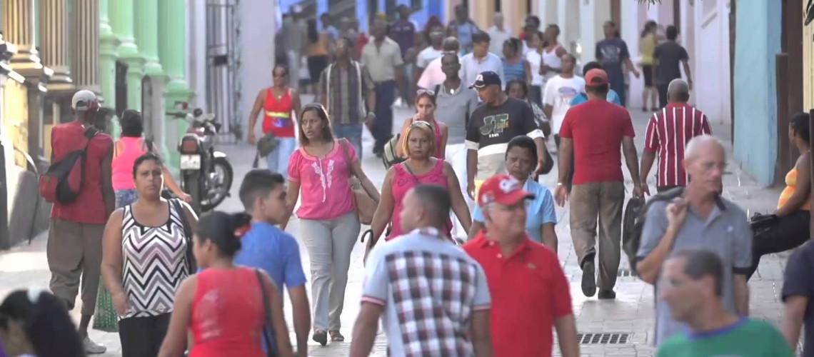 Una calle cercana al centro de la ciudad de Santiago de Cuba