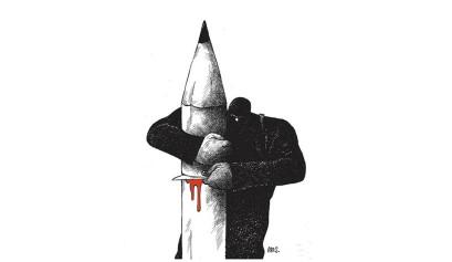 Ilustración: Arístides Hernández, Ares / Esta obra fue el Primer Premio Lurie Naciones Unidas 2015 / areshumour.com
