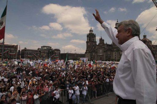 Andrés Manuel López Obrador en el Zócalo / Foto: lopezobrador.org.mx