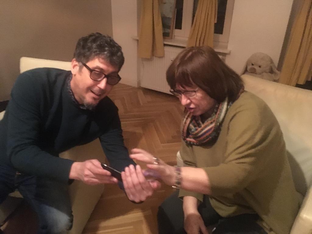 Svetlana Aleksiévich y Jorge Ferrer / Foto: Archivo del autor