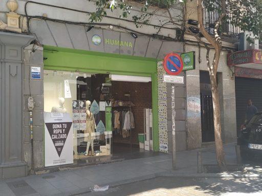 Tienda Humana en la calle Hortaleza de Madrid / Foto: Carla Gloria Colomé Santiago