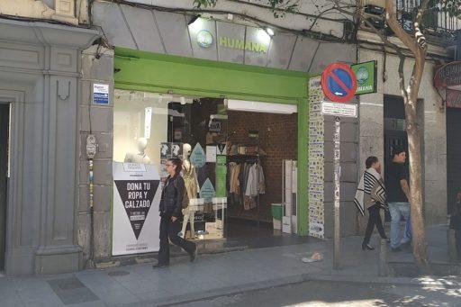 Tienda Humana en la calle Hortaleza de Madrid / Foto: Carla Gloria Colomé