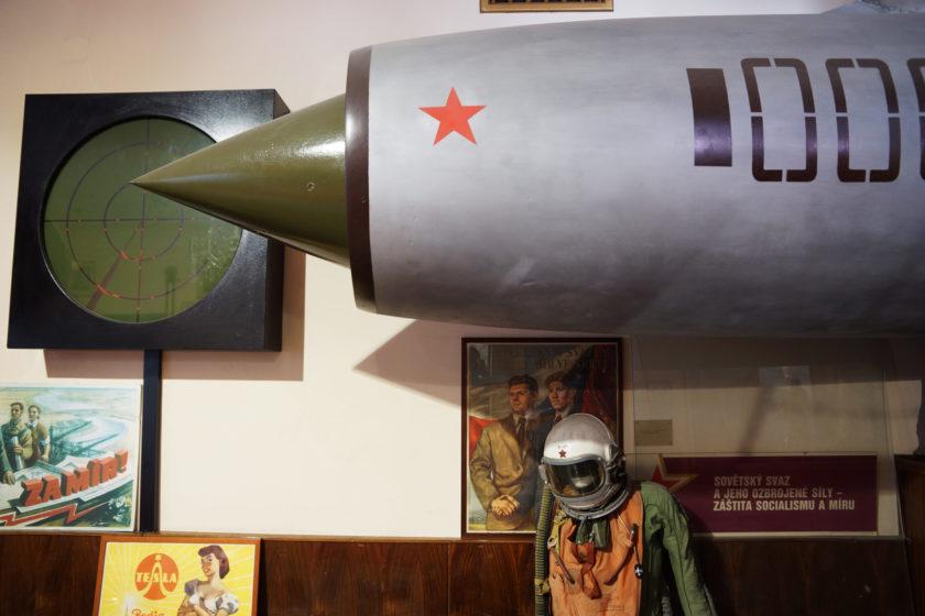 Aeronáutica comunista. Alejandro Taquechel. Museo del Comunismo (Praga).