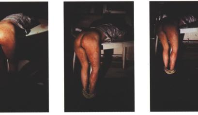 Rape Scene, 1973./ Fotografía, 398 x 310 mm. Tate Modern Gallery, Londres./ Ana Mendieta.