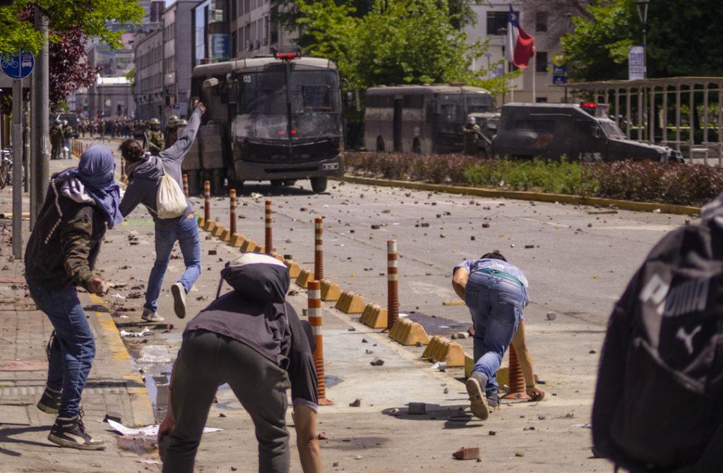 Ruber Osoria. Manifestaciones en Chile. Concepción, octubre 2019.