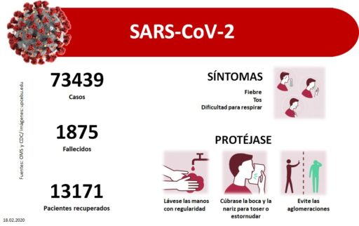 Infografía sobre el coronavirus