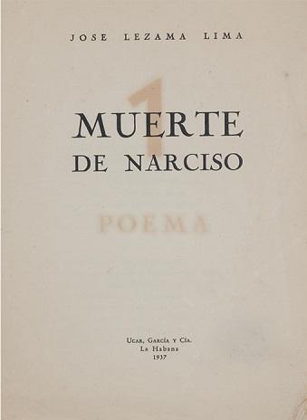 Portada de la primera edición de Muerte de Narciso (1937).