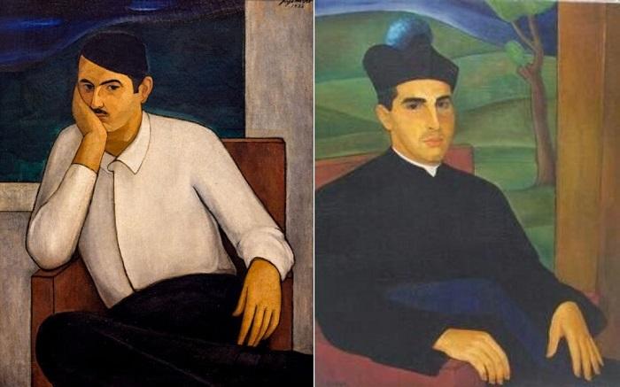 Retratos de Arístides Fernández (1933) y Ángel Gaztelu (1937), por Jorge Arche.