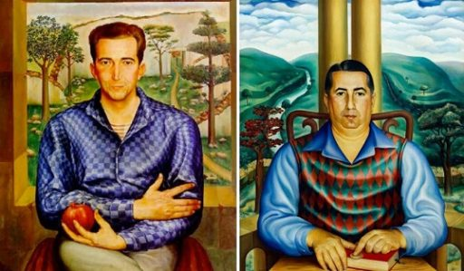 Retratos de René Villarnovo (1940) y Emilio Rodríguez Correa (1941), por Jorge Arche.