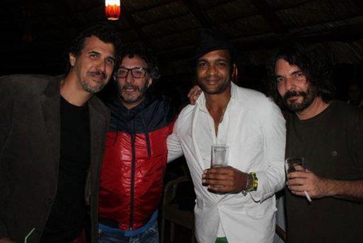 Robertico Carcasés, Fito Páez, Descemer Bueno y Santiago Feliú