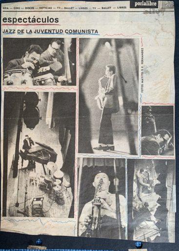 04. Recortes de periódico con imágenes del concierto de jazz celebrado en el teatro Payret en noviembre de 1963. Foto cortesía de Paquito D'Rivera.