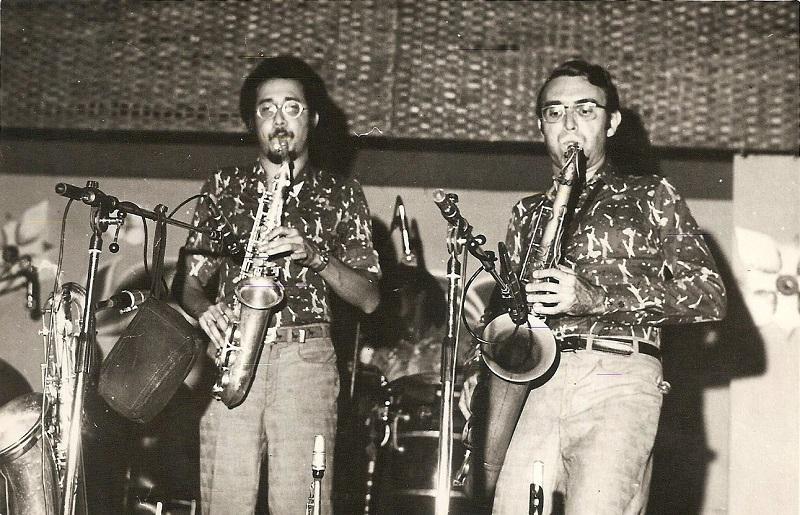 06.Paquito D'Rivera y Carlos Averhoff. 1970s. Foto cortesía de Paquito D'Rivera.