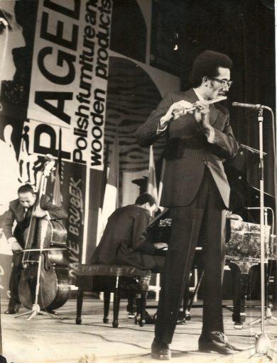 08. Paquito D'Rivera en el festival Jamboree, en Varsovia. 1970s. Foto cortesía de Paquito D'Rivera.