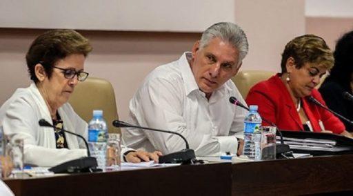 Díaz-Canel en las sesiones de la IX Legislatura, la Asamblea Nacional del Poder Popular en Cuba