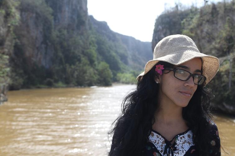 Mónica Baró Sánchez en Baracoa, momentos antes del interrogatorio