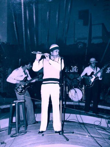 Oriente López con Grupo Proyecto en Festival Jazz Plaza, 1980s / Foto: Javier Ruibal