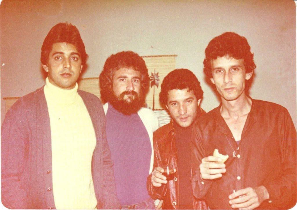 04.Pepino con Charles Porcel (hermano de Mike Porcel) y otros amigos, 1980 / Imagen cortesía del músico.