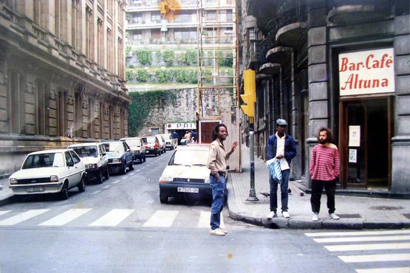 En1986, con Alberto Tosca y Carlos Varela / Foto: Cortesía del entrevistado