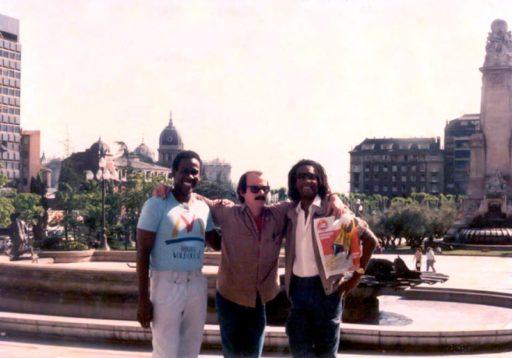 En1986, con Silvio Rodríguez y Alberto Tosca / Foto: Cortesía del entrevistado
