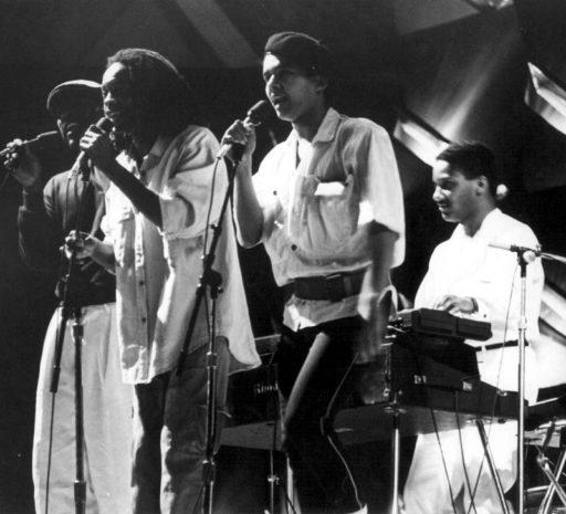 En 1987, con Alberto Tosca, Donato Poveda y Gonzalo Rubalcaba / Foto: Cortesía del entrevistado