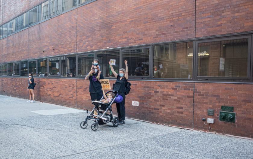 Arien Chang. Protestas en Nueva York.