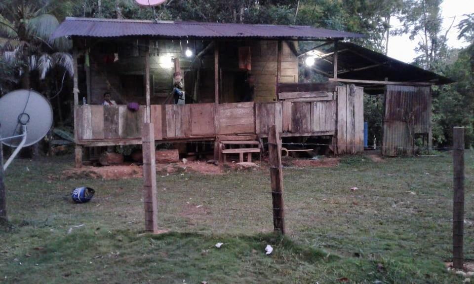 Casa donde Rodolfo estuvo por una noche en Centroamérica
