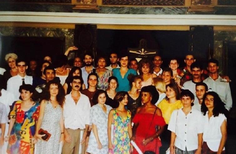 Foto de graduación en Universidad de La Habana