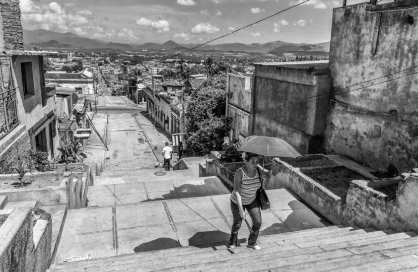 William Riera. Las escalinatas de Santiago (Escalinata de los Maceo).