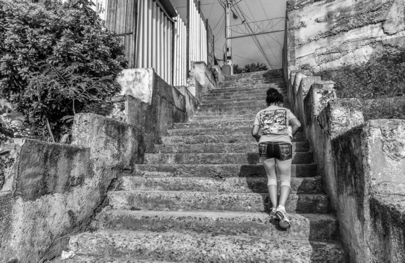 William Riera. Las escalinatas de Santiago (Calle 6).