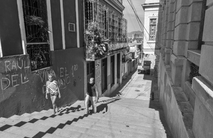 William Riera. Las escalinatas de Santiago (Lauro Fuentes y Corona).