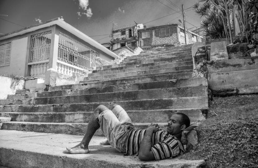 William Riera. Las escalinatas de Santiago (Tomás Padro, entre Princesa y Santa Rosa).