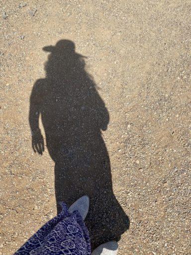 Sombra de la autora / Foto: Cortesía de la autora