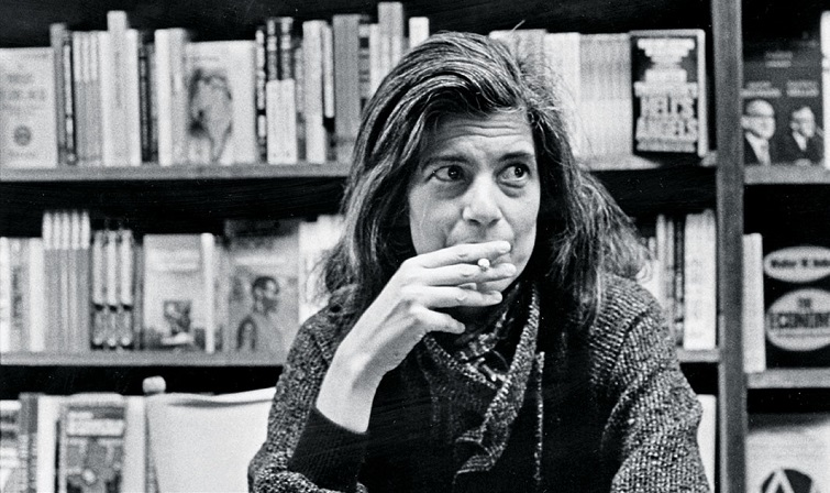 Susan Sontag, Cambridge, Massachusetts, ca. 1970s. Donald Dietz.