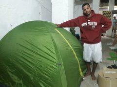 Maykel Osorbo y la casa verde / Foto: Anamely Ramos
