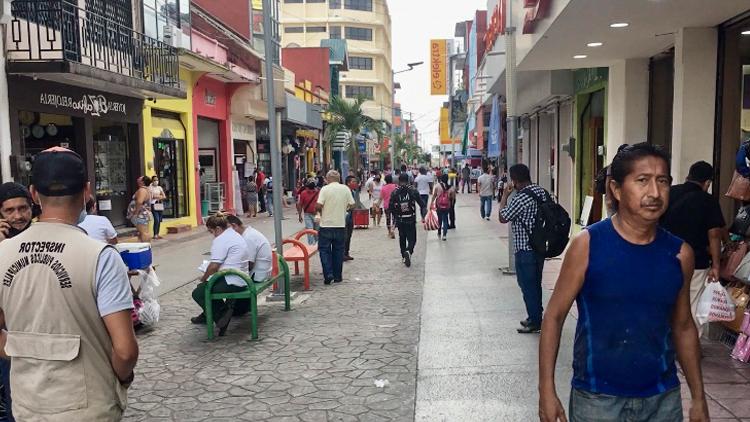 Calle en el centro de Tapachula