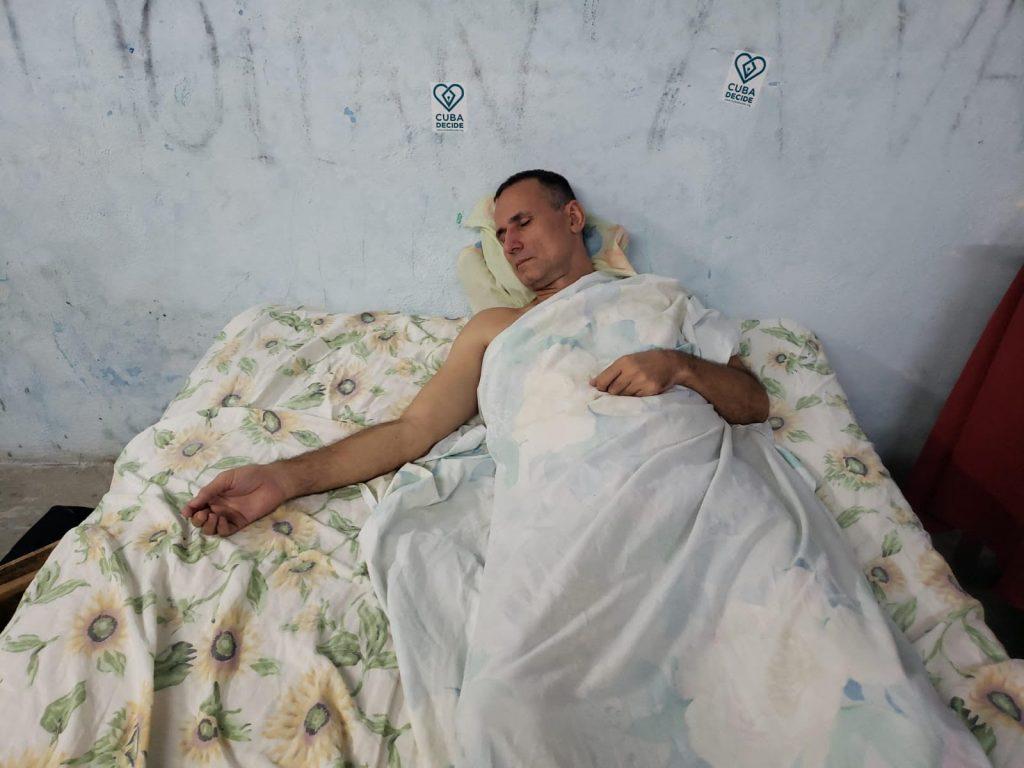 José Daniel Ferrer en la sede de UNPACU, Santiago de Cuba/ Fotografía: Twitter/José Daniel Ferrer