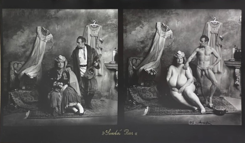 Holy Russia / Díptico de Jan Saudek.