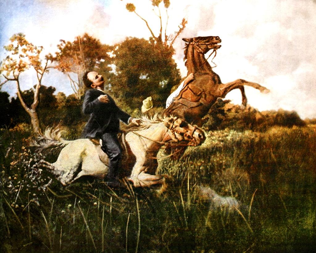 Imagen del momento de la muerte de José Martí