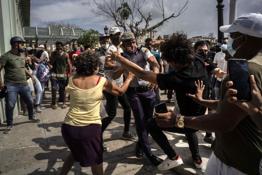 Protesta en Cuba