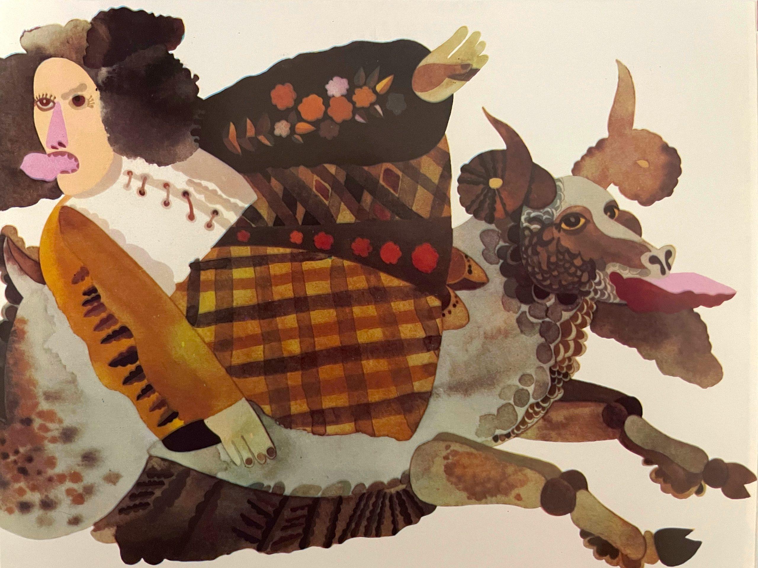 Ilustración del libro Folk Tales From The Soviet Union